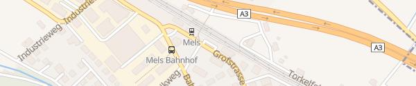 Karte Bahnhof Mels