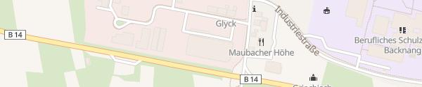 Karte Feucht Backnang