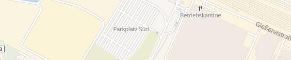 Karte Volkswagen Parkplatz Süd Baunatal