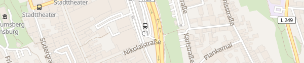 Karte ZOB Flensburg