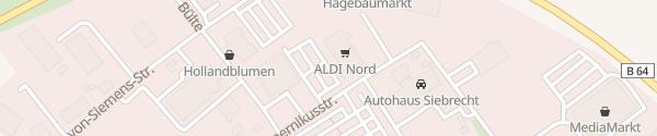 Karte E-Bike Ladesäule Hagebaumarkt Holzminden