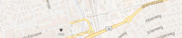 Karte Parkplatz Süd Bahnhof Buchs