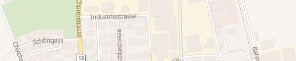 Karte Calandastrasse Sevelen SG