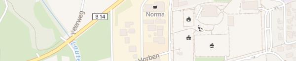Karte P&C Auto Schäf Sulzbach/Murr