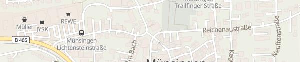 Karte Uracherstraße Münsingen
