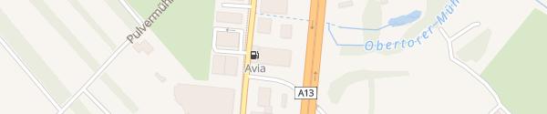 Karte Auto Spa Rossboden Chur