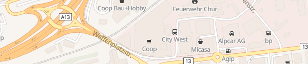 Karte P1 City West Chur