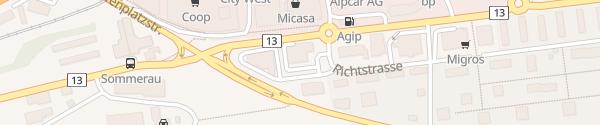 Karte Alpina Garage BMW Chur