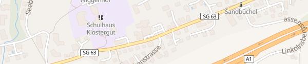 Karte BEST WESTERN Hotel Rebstock Rorschacherberg