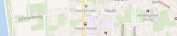 Karte Tiefgarage Schulanlage Triesen