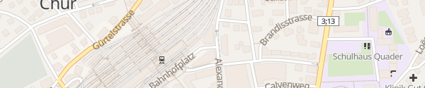 Karte Parkhaus Otto & Alex Chur