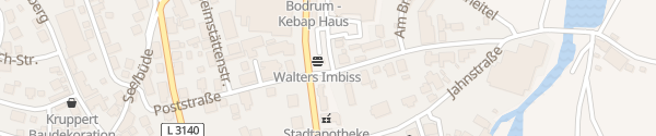 Karte Bleichenstraße Schlitz