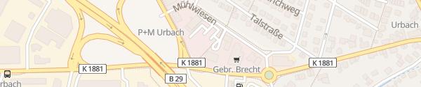 Karte Mühlwiesen Urbach