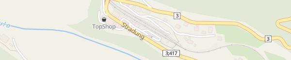 Karte RhB-Bahnhof Tiefencastel