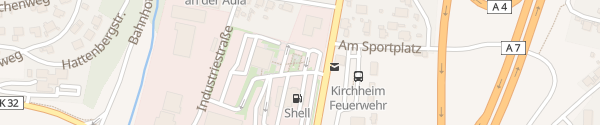 Karte SVG-Autohof Kirchheimer Dreieck Kirchheim