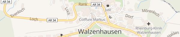 Karte Schnellladesäule Bahnhof Walzenhausen