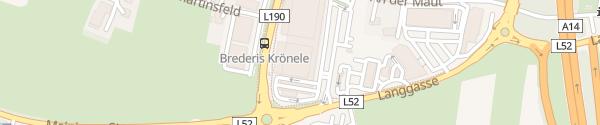 Karte Merkur-Parkhaus Passage 22 Rankweil
