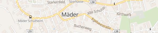 Karte Gemeindeamt Mäder