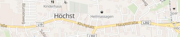 Karte Gemeindeamt Höchst