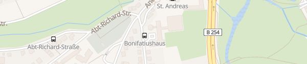 Karte Bonifatiushaus Fulda