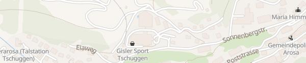Karte Tschuggen Grand Hotel Arosa