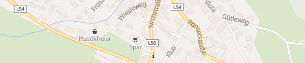 Karte Gemeindeamt Satteins