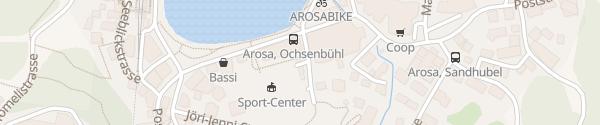 Karte Parkhaus Ochsenbühl Arosa
