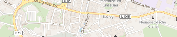 Karte Oberer Bach Künzelsau