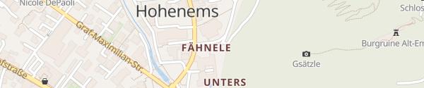 Karte Palast Gastronomie Hohenems