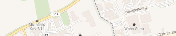 Karte BMW Autohaus Mulfinger Michelfeld