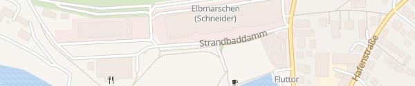Karte Strandbaddamm Wedel