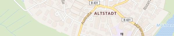 Karte Parkplatz Austraße Wedel