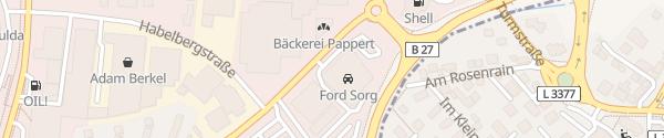 Karte Autohaus Ford E. Sorg Fulda