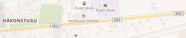 Karte Motel Sinclair Kvam