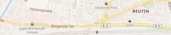 Karte Einkaufszentrum Lindaupark Lindau
