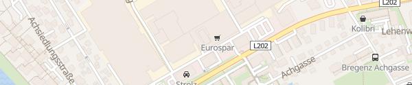 Karte Eurospar Vorkloster Bregenz
