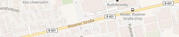 Karte famila Parkplatz Wedel