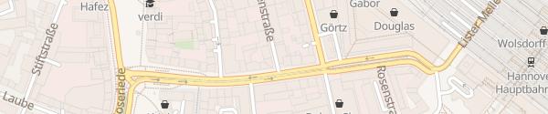 Karte Herrenstraße Hannover