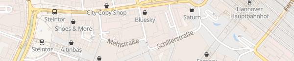 Karte Parkhaus Rosenquartier Hannover