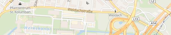 Karte Mobilitätszentrale illwerke vkw Bregenz