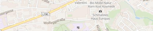 Karte Landhaus Bregenz