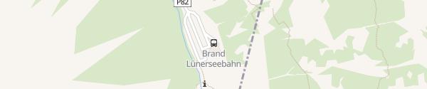Karte Lünerseebahn Talstation Brand