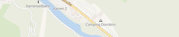 Karte Dornbirn Camping Dornbirn