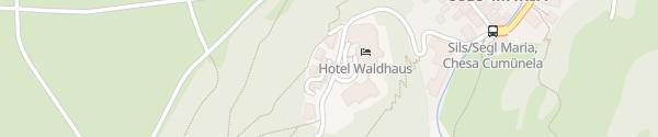 Karte Hotel Waldhaus Sils