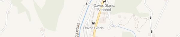 Karte Camping Rinerlodge Davos Glaris