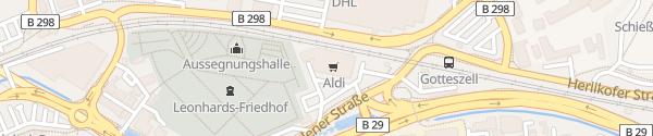 Karte ALDI Süd Aalener Straße Schwäbisch Gmünd