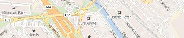 Karte UW Bürs Schnellladestation Bürs