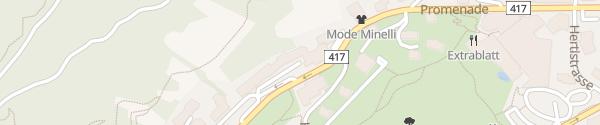 Karte Steigenberger Grandhotel Belvédère Davos
