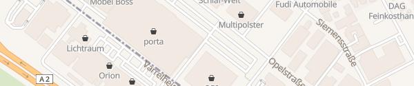 Karte OBI Altwarmbüchen Isernhagen
