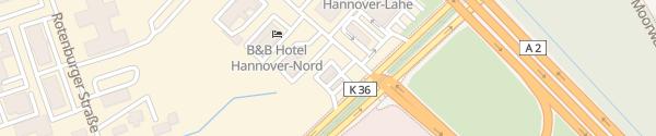 Karte HEM Tankstelle Lahe Hannover